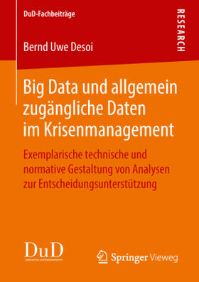 Desoi | Big Data und allgemein zugängliche Daten im Krisenmanagement | Buch | sack.de