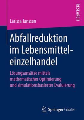 Janssen   Abfallreduktion im Lebensmitteleinzelhandel   Buch   sack.de