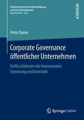 Daiser | Corporate Governance öffentlicher Unternehmen | Buch | sack.de