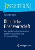 Spremann    Öffentliche Finanzwirtschaft   Buch    Sack Fachmedien