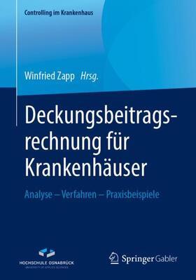 Zapp | Deckungsbeitragsrechnung für Krankenhäuser | Buch | sack.de