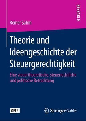 Sahm | Theorie und Ideengeschichte der Steuergerechtigkeit | Buch | sack.de
