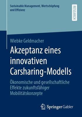 Geldmacher   Akzeptanz eines innovativen Carsharing-Modells   Buch   sack.de