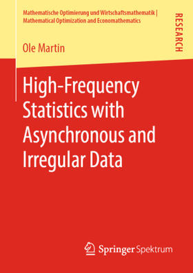 Martin   High-Frequency Statistics with Asynchronous and Irregular Data   Buch   sack.de