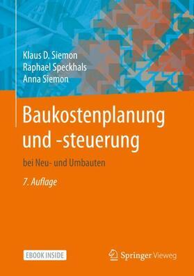 Siemon / Speckhals / Siemon | Baukostenplanung und -steuerung | Buch | sack.de