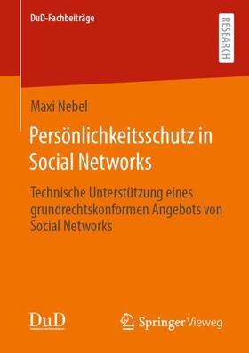 Nebel   Persönlichkeitsschutz in Social Networks   Buch   sack.de