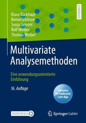 Backhaus / Erichson / Gensler | Multivariate Analysemethoden, m. 1 Buch, m. 1 E-Book | Buch | sack.de