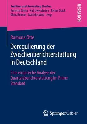 Otte | Deregulierung der Zwischenberichterstattung in Deutschland | Buch | sack.de