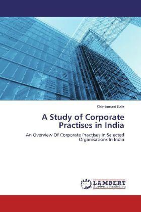 Kale | A Study of Corporate Practises in India | Buch | sack.de