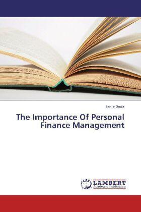 Doda | The Importance Of Personal Finance Management | Buch | sack.de