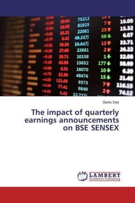 Das | The impact of quarterly earnings announcements on BSE SENSEX | Buch | sack.de