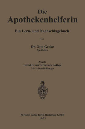 Gerke | Die Apothekenhelferin | Buch | sack.de