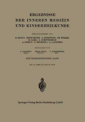 Langstein / Meyer / Schittenhelm | Ergebnisse der Inneren Medizin und Kinderheilkunde | Buch | sack.de