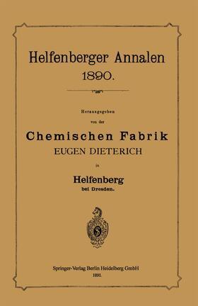 Chemischen Fabrik / Dieterich   Helfenberger Annalen 1890   Buch   sack.de