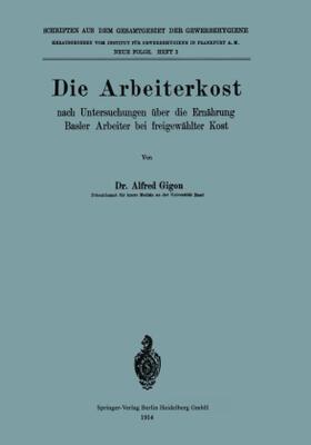 Gigon   Die Arbeiterkost   Buch   sack.de