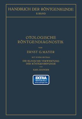 Mayer / Holzknecht | Otologische Röntgendiagnostik | Buch | sack.de