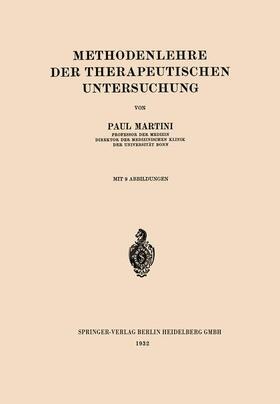 Martini | Methodenlehre der Therapeutischen Untersuchung | Buch | sack.de