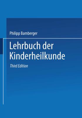 Bamberger | Lehrbuch der Kinderheilkunde | Buch | sack.de