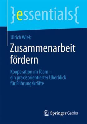 Wiek | Zusammenarbeit fördern | Buch | sack.de