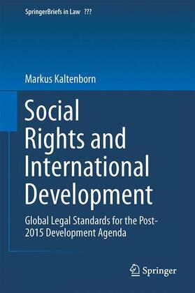 Kaltenborn | Social Rights and International Development | Buch | sack.de