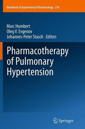 Humbert / Evgenov / Stasch | Pharmacotherapy of Pulmonary Hypertension | Buch | sack.de