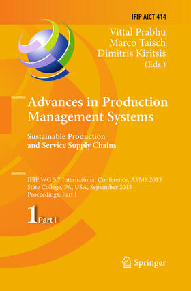 Prabhu / Taisch / Kiritsis | Advances in Production Management Systems. Sustainable Production and Service Supply Chains | Buch | sack.de