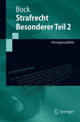 Bock | Strafrecht Besonderer Teil II. Tl.2 | Buch | Sack Fachmedien