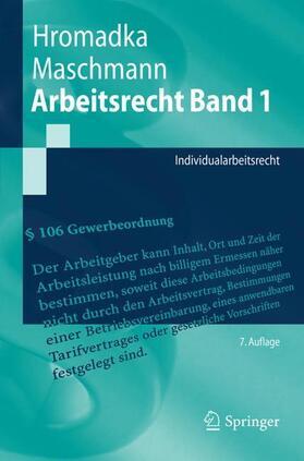 Hromadka / Maschmann   Arbeitsrecht Band 1   Buch   sack.de