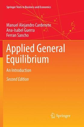 Cardenete / Guerra / Sancho   Applied General Equilibrium   Buch   sack.de