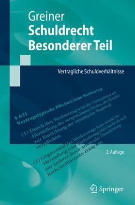 Greiner | Schuldrecht Besonderer Teil | Buch | sack.de