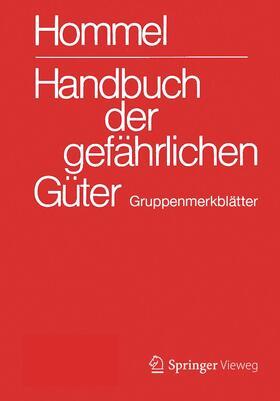 Holzhäuser / Holzhäuser | Handbuch der gefährlichen Güter. Gruppenmerkblätter | Buch | sack.de
