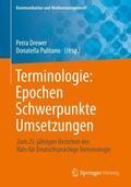 Drewer / Pulitano |  Terminologie : Epochen - Schwerpunkte - Umsetzungen | Buch |  Sack Fachmedien