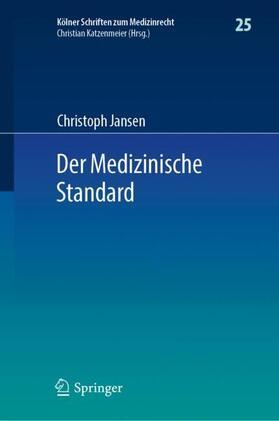 Jansen   Der Medizinische Standard   Buch   sack.de