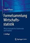 Peren Formelsammlung Wirtschaftsstatistik | Sack Fachmedien