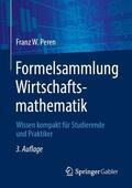 Peren Formelsammlung Wirtschaftsmathematik | Sack Fachmedien