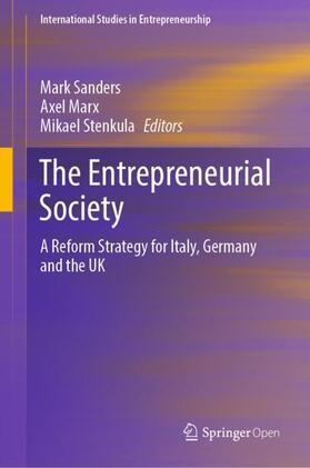 Marx / Sanders / Stenkula   The Entrepreneurial Society   Buch   sack.de