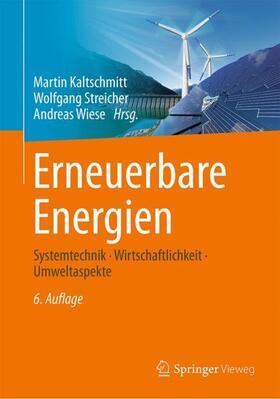 Kaltschmitt / Streicher / Wiese   Erneuerbare Energien   Buch   sack.de