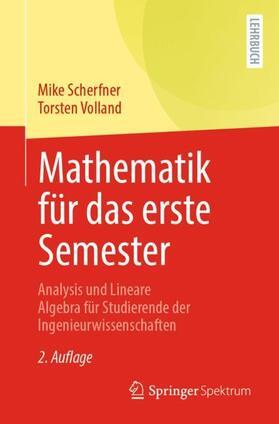 Scherfner / Volland   Mathematik für das erste Semester   Buch   sack.de