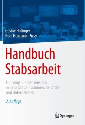 Hofinger / Heimann   Handbuch Stabsarbeit   Buch   sack.de