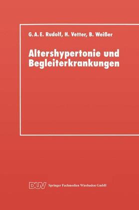 Rudolf | Altershypertonie und Begleiterkrankungen | Buch | sack.de