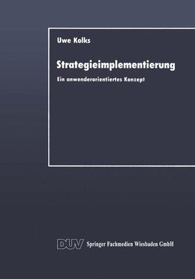 Kolks | Strategieimplementierung | Buch | sack.de