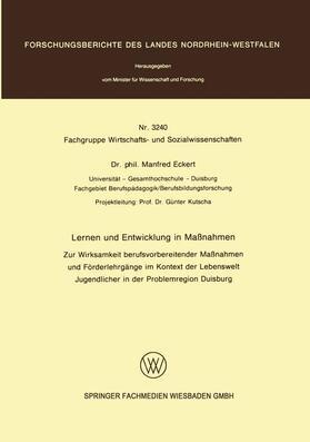 Eckert | Lernen und Entwicklung in Maßnahmen | Buch | sack.de