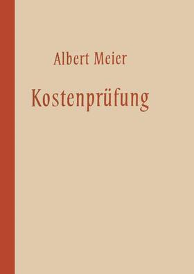 Meier   Kostenprüfung   Buch   sack.de