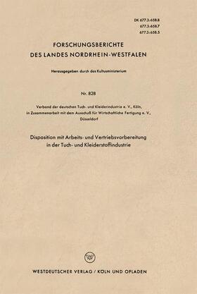 Disposition mit Arbeits- und Vertriebsvorbereitung in der Tuch- und Kleiderstoffindustrie   Buch   sack.de