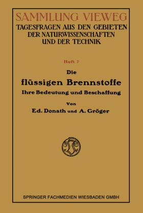Donath   Die Flüssigen Brennstoffe   Buch   sack.de