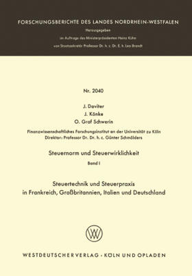 Daviter / Könke / Schwerin | Steuernorm und Steuerwirklichkeit | Buch | sack.de