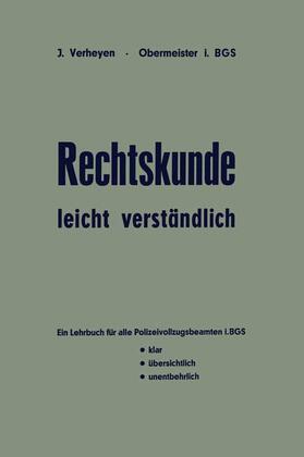 Verheyen   Rechtskunde - leicht verständlich   Buch   sack.de