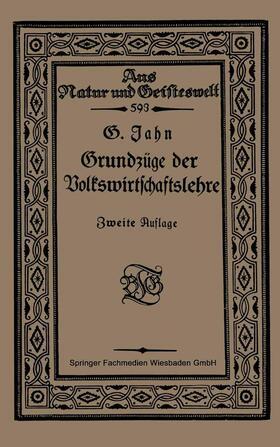 Jahn   Grundzüge der Volkswirtschaftslehre   Buch   sack.de
