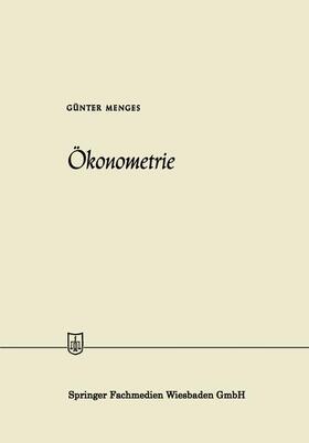 Menges | Ökonometrie | Buch | sack.de