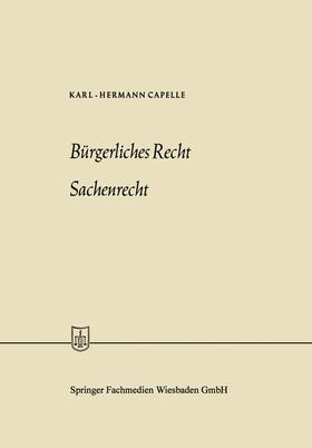 Capelle   Bürgerliches Recht Sachenrecht   Buch   sack.de
